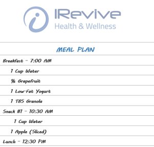 Planning your meals and snacks